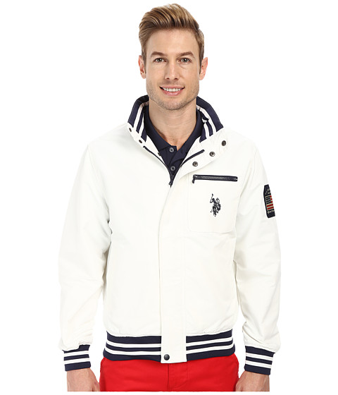 Imbracaminte Barbati US Polo Assn Yacht Jacket White Winter