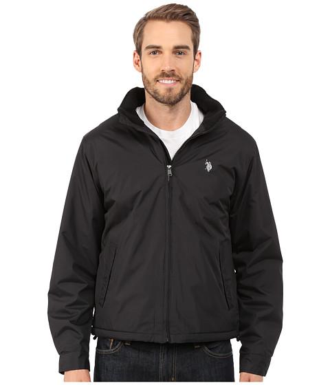 Imbracaminte Barbati US Polo Assn Mock Neck Jacket Polar Fleece Lined Black