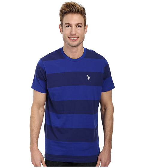 Imbracaminte Barbati US Polo Assn Wide Stripe T-Shirt Dodger Blue