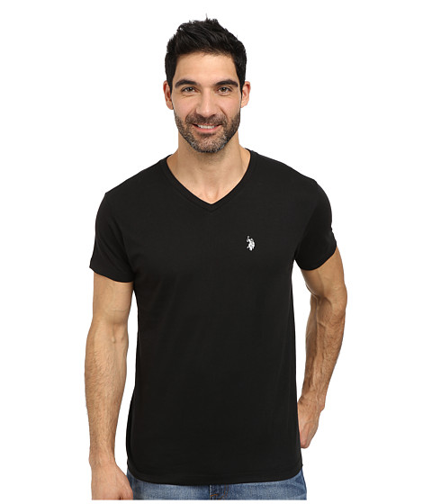 Imbracaminte Barbati US Polo Assn V-Neck Short Sleeve T-Shirt Black