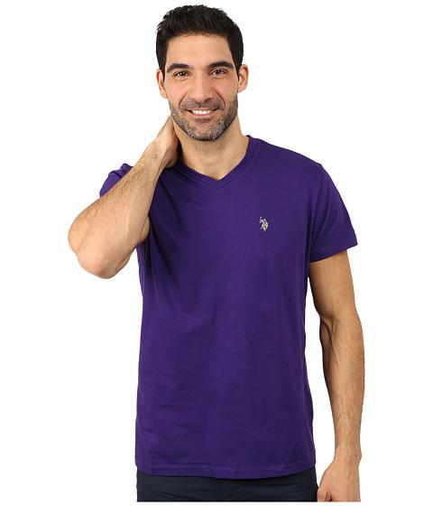 Imbracaminte Barbati US Polo Assn V-Neck Short Sleeve T-Shirt Dark Violet