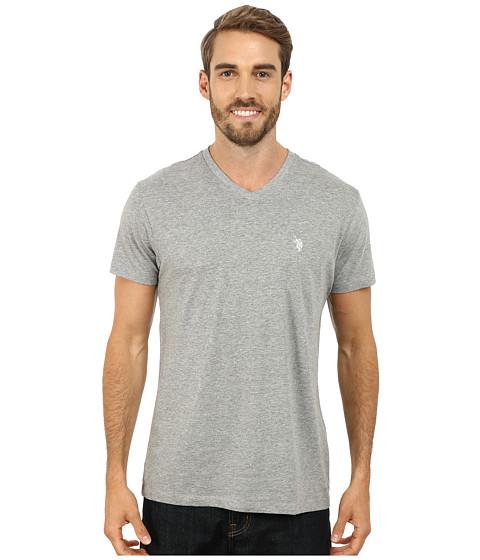 Imbracaminte Barbati US Polo Assn V-Neck Short Sleeve T-Shirt Heather Gray