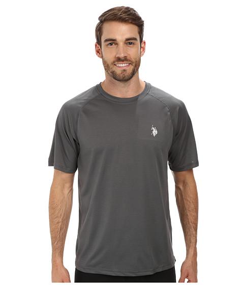 Imbracaminte Barbati US Polo Assn Solid Rashguard UPF 50 Swim T-Shirt Castlerock