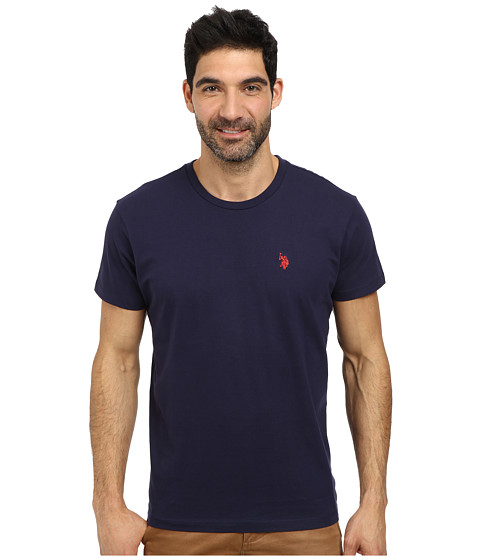 Imbracaminte Barbati US Polo Assn Crew Neck Small Pony T-Shirt Classic Navy