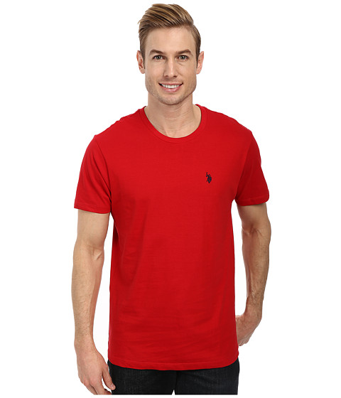 Imbracaminte Barbati US Polo Assn Crew Neck Small Pony T-Shirt Engine Red