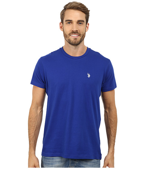 Imbracaminte Barbati US Polo Assn Crew Neck Small Pony T-Shirt International Blue