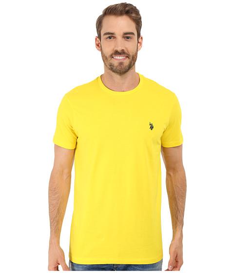 Imbracaminte Barbati US Polo Assn Crew Neck Small Pony T-Shirt Laser Yellow