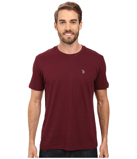 Imbracaminte Barbati US Polo Assn Crew Neck Small Pony T-Shirt East Burgundy