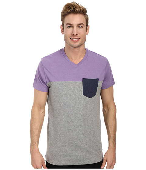 Imbracaminte Barbati US Polo Assn Three Color Blocked V-Neck T-Shirt Tie Purple Heather