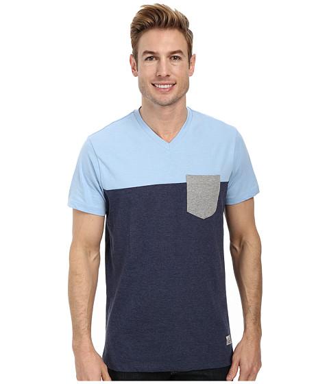 Imbracaminte Barbati US Polo Assn Three Color Blocked V-Neck T-Shirt Yale Blue Heather