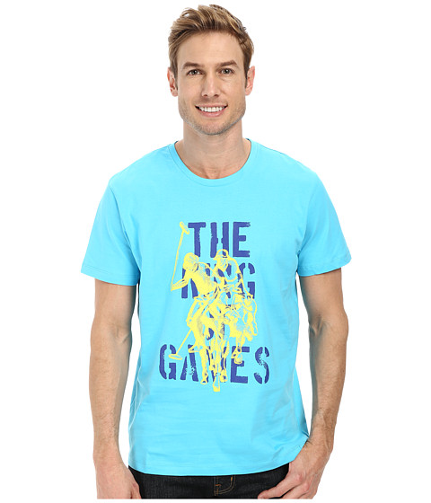 Imbracaminte Barbati US Polo Assn The King Of Games T-Shirt Blue Sea