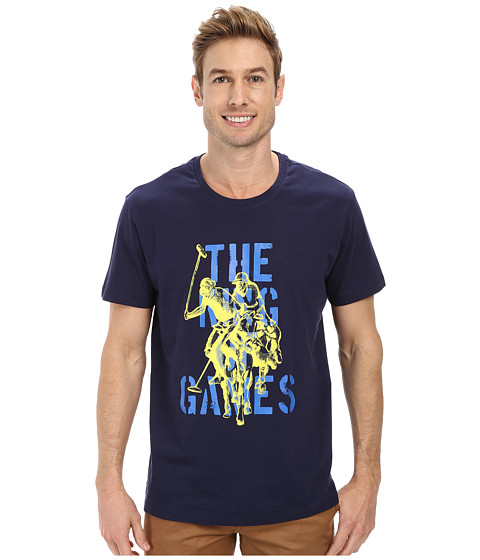 Imbracaminte Barbati US Polo Assn The King Of Games T-Shirt Classic Navy
