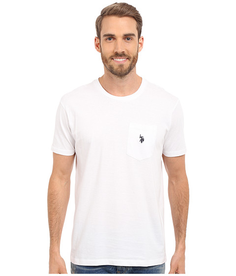Imbracaminte Barbati US Polo Assn Solid Crew Neck Pocket T-Shirt White