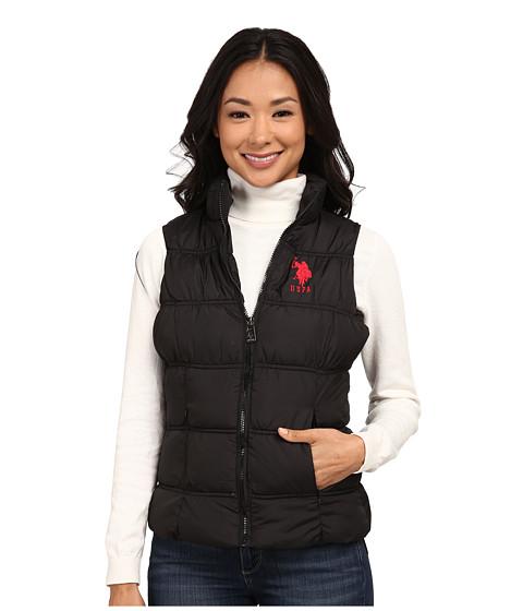 Imbracaminte Femei US Polo Assn Basic Princess Seamed Puffer Vest Black