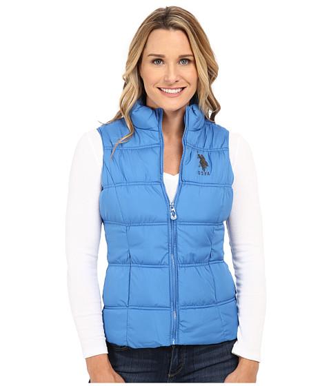 Imbracaminte Femei US Polo Assn Basic Princess Seamed Puffer Vest Campanula Blue