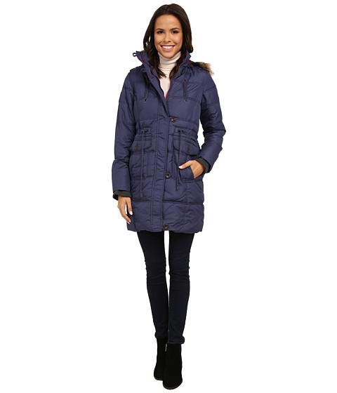 Imbracaminte Femei US Polo Assn Long Puffer Anorak with Faux Fur Trim Hood Blue Vortex