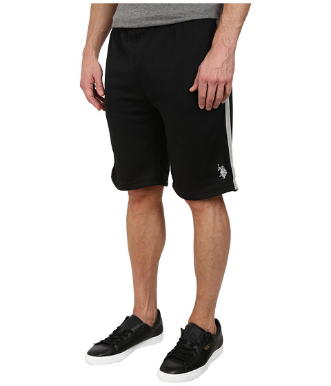 Imbracaminte Barbati US Polo Assn Fleece Shorts with Side Stripe Black