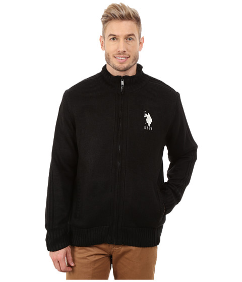 Imbracaminte Barbati US Polo Assn Sherpa Lined Sweater Black