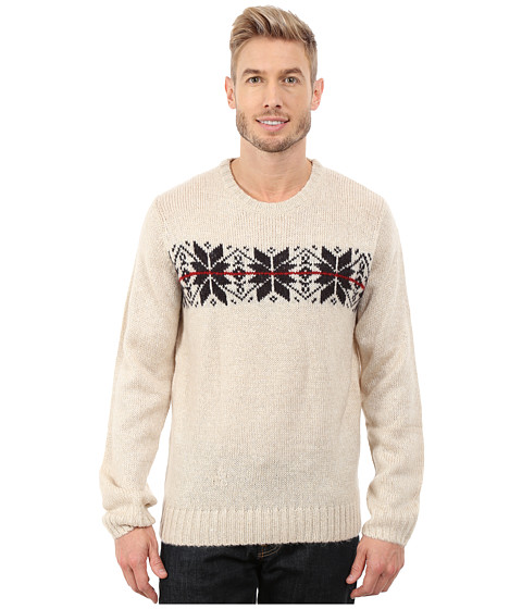 Imbracaminte Barbati US Polo Assn Snowflake Crew Neck Sweater Oatmeal