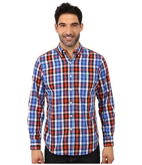 Imbracaminte Barbati US Polo Assn Poplin Plaid Shirt International Blue