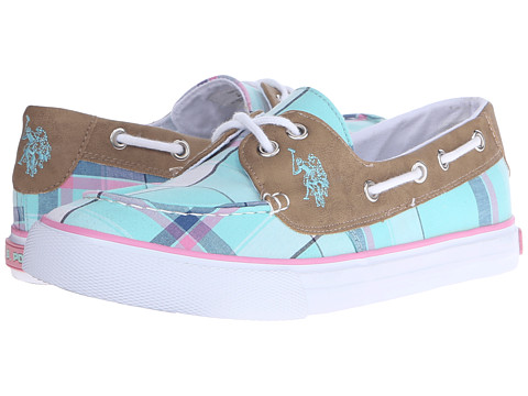 Incaltaminte Femei US Polo Assn Mate Mint PlaidTan