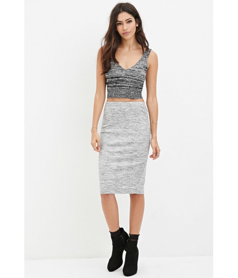 Imbracaminte Femei Forever21 Marled Knit Pencil Skirt Greycream