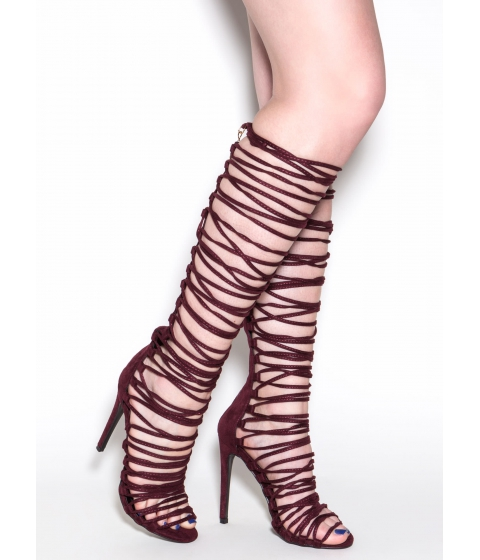 Incaltaminte Femei CheapChic Lace-up 2 Win Gladiator Sandals Wine