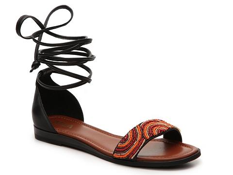 Incaltaminte Femei MIA Charita Flat Sandal BlackRed