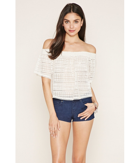 Imbracaminte Femei Forever21 Low-Rise Denim Shorts Denim