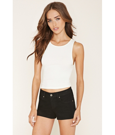 Imbracaminte Femei Forever21 Low-Rise Denim Shorts Black
