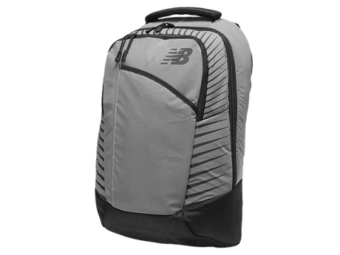 Genti Femei New Balance Reflective Beacon Backpack Black with Silver
