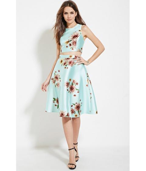 Imbracaminte Femei Forever21 Contemporary A-Line Skirt Aquamauve