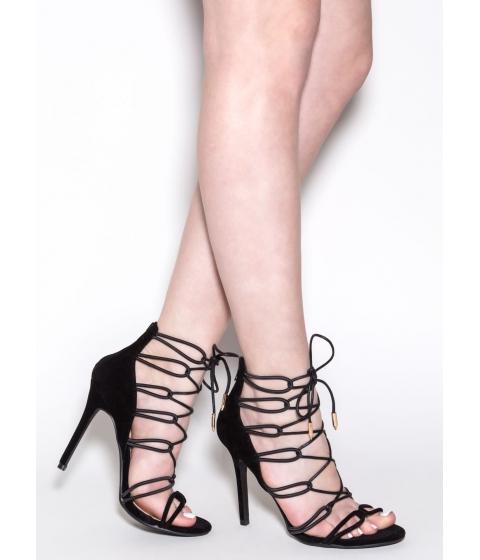 Incaltaminte Femei CheapChic Cameo Appearance Velvet Heels Black