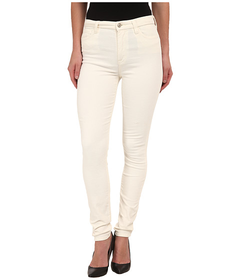 Imbracaminte Femei 7 For All Mankind The High Waist Skinny Cord in Soft White Soft White