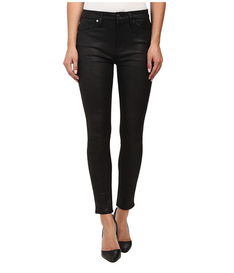 Imbracaminte Femei 7 For All Mankind High Waist Ankle Knee Seam Skinny in Black Leather Like Black Leather Like