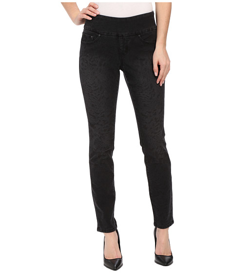 Imbracaminte Femei Jag Jeans Lanna Pull-On Slim Patterned Denim in Tiger Black Tiger Black