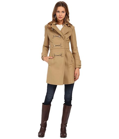 Imbracaminte Femei MICHAEL Michael Kors Buckle Front Coat Dark Camel
