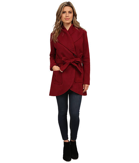 Imbracaminte Femei BB Dakota Gitty Melton Wrap Coat Merlot