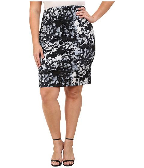 Imbracaminte Femei Vince Camuto Plus Size Floral Back Zip Scuba Pencil Skirt Chambray 2