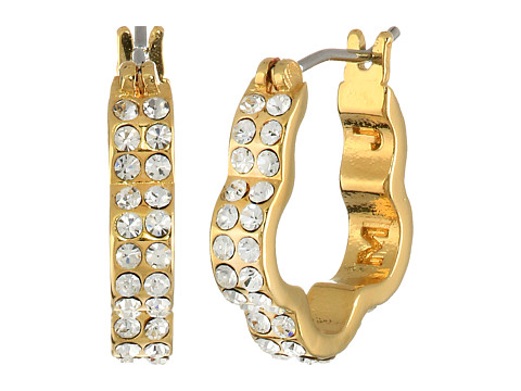 Bijuterii Femei Marc by Marc Jacobs Diamonds and Daisies Daisy Window Mini Hoops Earrings CrystalOro