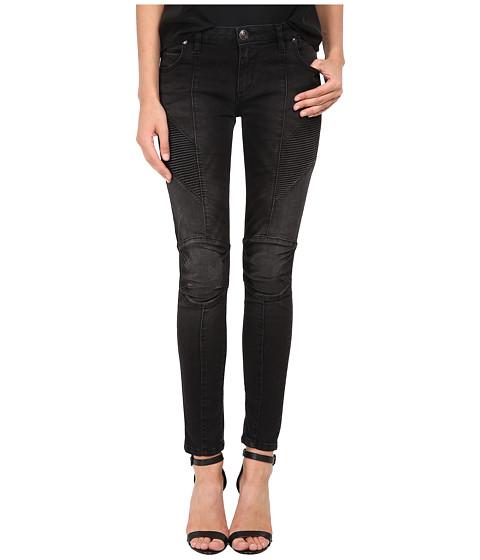 Imbracaminte Femei Pierre Balmain Ribbed-Side Jeans in Black FP5358JO35B Black