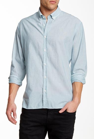 Imbracaminte Barbati Billy Reid Murphy Solid Long Sleeve Slim Fit Shirt DARK SEAFOAM