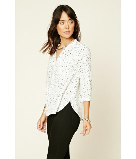 Imbracaminte Femei Forever21 Diamond-Patterned Shirt Creamblack