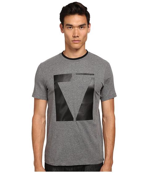 Imbracaminte Barbati McQ Short Sleeve Crew Neck T-Shirt Grey Melange