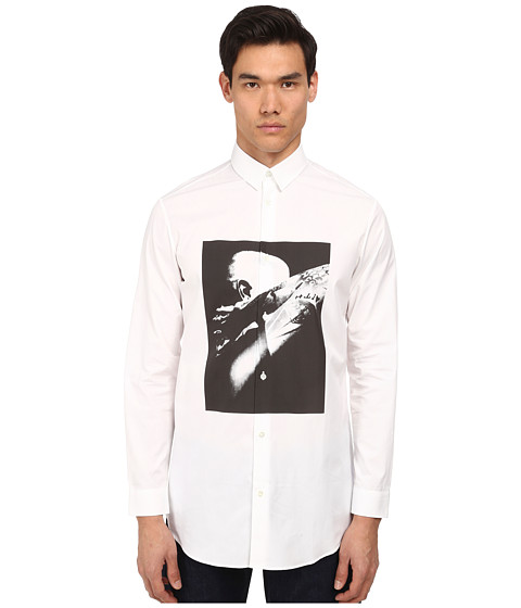 Imbracaminte Barbati McQ Long Button Up Optic White