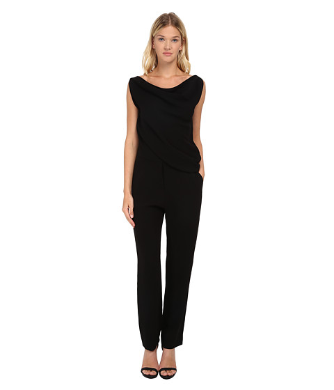 Imbracaminte Femei McQ All-In-One Drape Jumpsuit Black Crepe