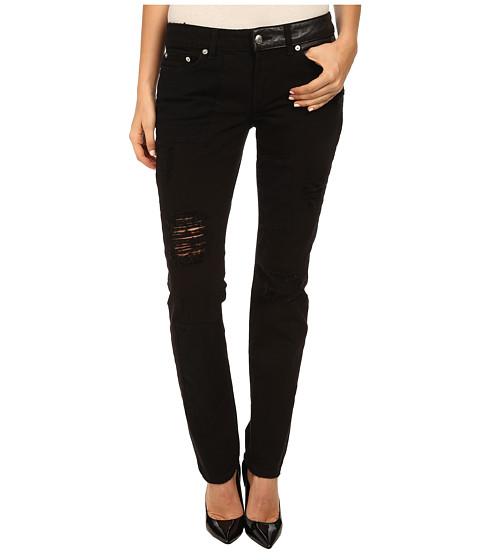 Imbracaminte Femei McQ Patched Low Waist Skinny Jeans Darkest Black