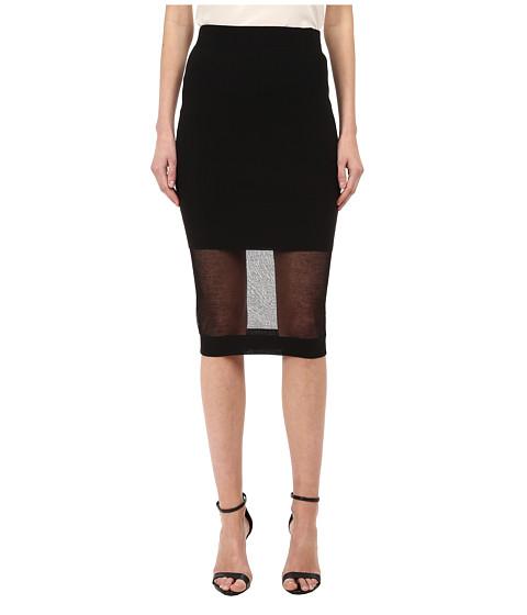Imbracaminte Femei McQ SolidSheer Skirt Darkest Black
