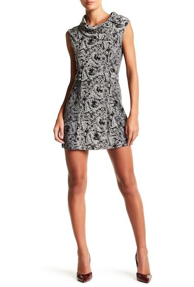 Imbracaminte Femei Papillon Foldover Collar Sleeveless Dress MULTI GREY