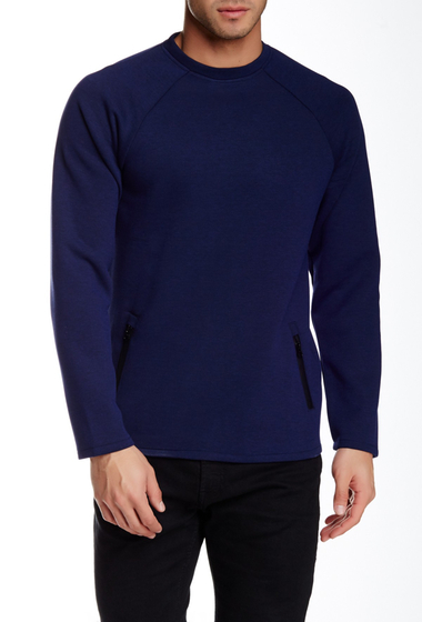 Imbracaminte Barbati NATIVE YOUTH Scuba Knit Sweatshirt NAVY